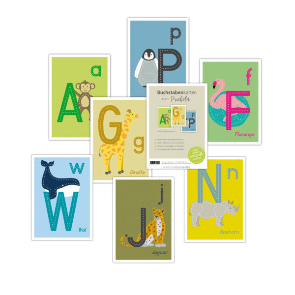 Prickel ABC- Set für Kinder in Kindergarten- und Schulalter