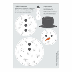 Prickel Set Schneemann