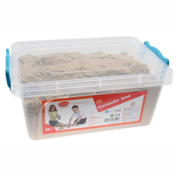 Mariazeller Sand in Box für sensorisches Spiel