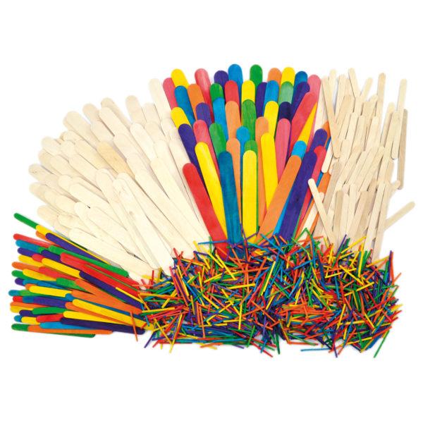 Holzstäbchen zum Basteln für Kinder in Kindergarten- und Schulalter
