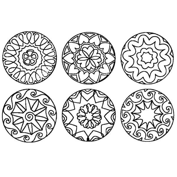 Stempel Motive Mandala