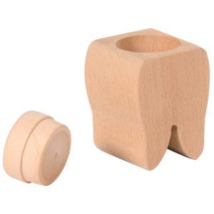 Zahn aus Holz fur Aufbewahrung