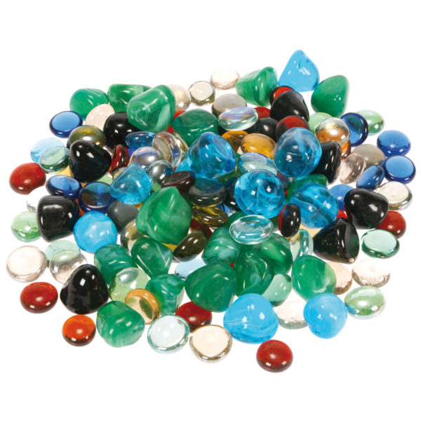 Glasnuggets zum Spielen und Basteln für Kinder in Kindergarten- und Schulalter