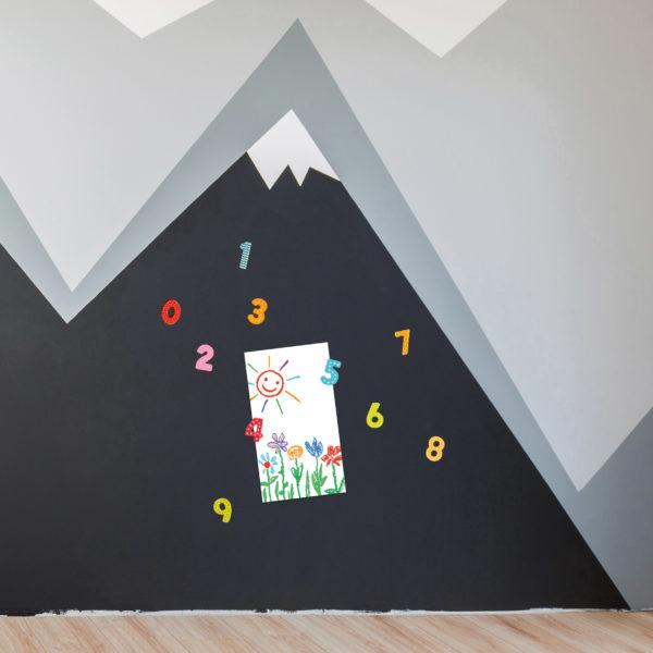 Wand mit Magnetfarbe