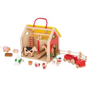 Puppenhaus Farmhaus aus Holz für Kinder in Kindergarten- und Schulalter