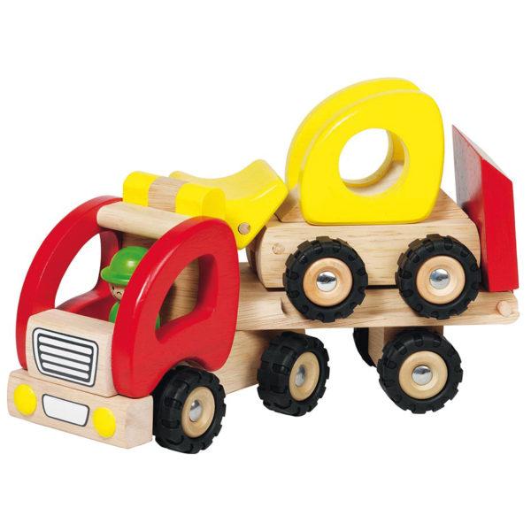 Tieflader aus Holz für Kinder