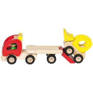 Tieflader aus Holz für Kinder in Kindergarten- und Schulalter