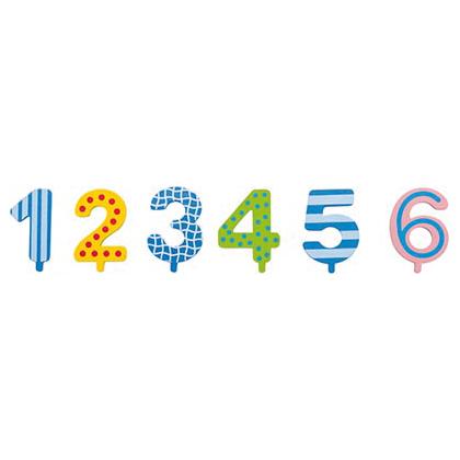 Zahlen zum Geburtstagszug aus Holz