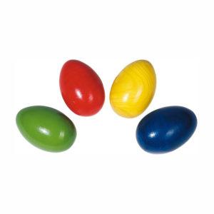 Rassel Eier aus Holz