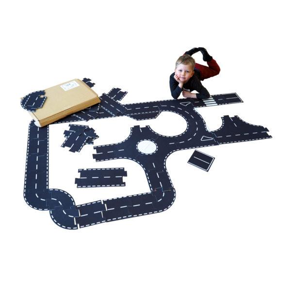 Spielteppich Straßenteile
