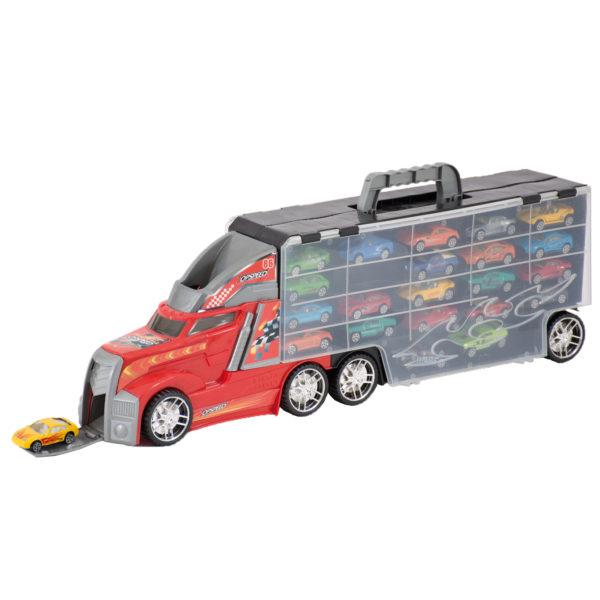 Truck mit Spielzeugautos