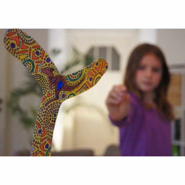 Boomerang zum ausmalen für Kinder