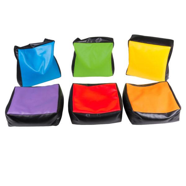 Wahrnehmungskissen in 6 verschiedenen Farben
