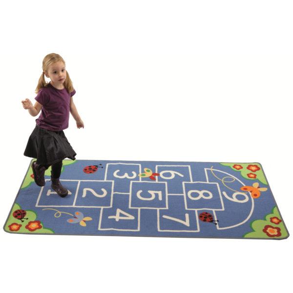 Spielteppich Tempelhüpfen für Kinder in Kindergarten- und Schulalter