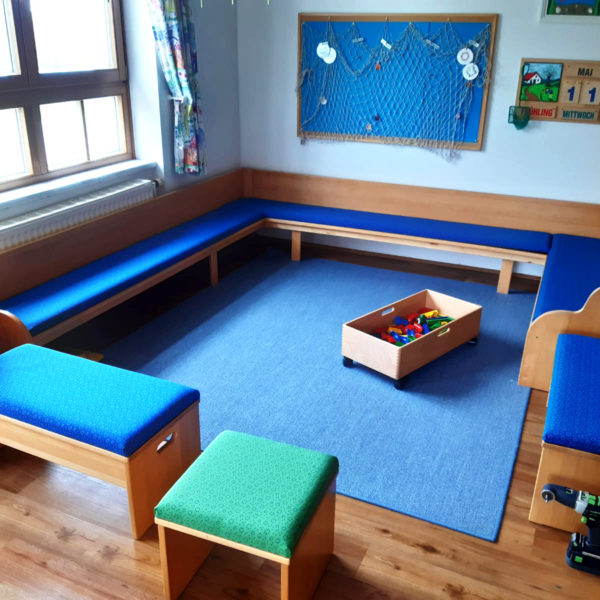 Teppich nach Maß in einem Kindergarten
