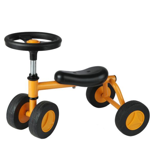 Seitenansicht des Laufrads Quaddy für erste Fahrversuche von Kindern im Krippenalter ab 18 Monaten