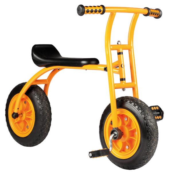 Seitenansicht des Lernfahrrads Top Bike von beleduc für Kinder im Kindergartenalter