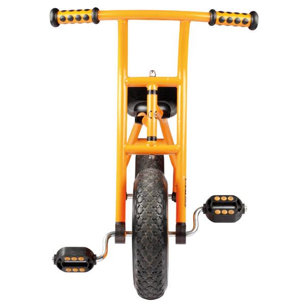 Frontansicht des Lernfahrrads Top Bike von beleduc für Kinder im Kindergartenalter