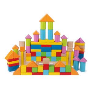 Bunte Holzbausteine von Hape für Kinder in Krippe und Kindergarten