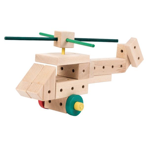 Hubschrauber aus Matador Bausteinen für Kinder im Kindergarten