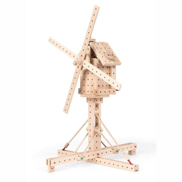Windrad aus Holbausteinen von Matador