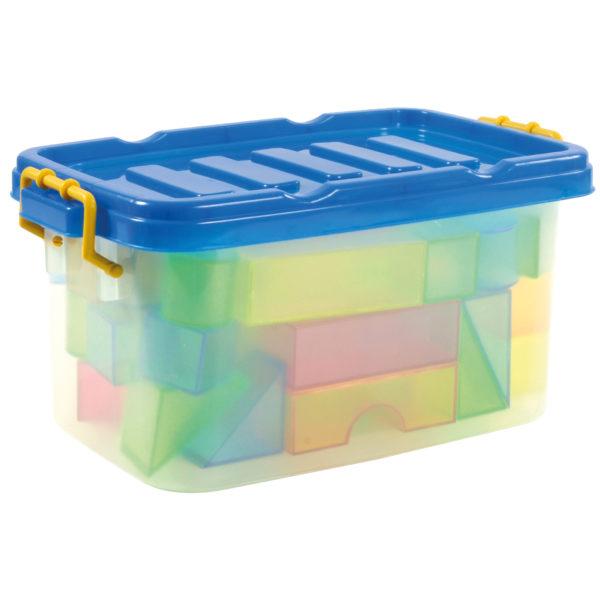 Die Duplo® kompatiblen Transparentbausteine kommen in einer praktischen Aufbewahrungsbox