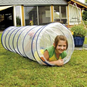 Kriechtunnel transparent für Kinder