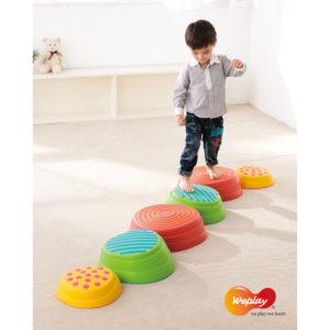 Regenbogen Flusssteine für Bewegungsspiele und Parcours