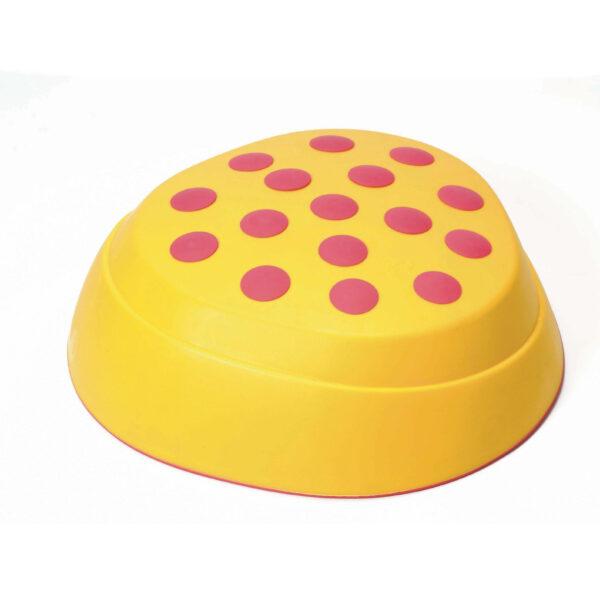 Regenbogen Flusstein in gelb für Bewegungsspiele
