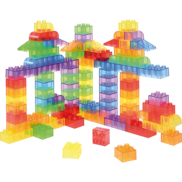 Baubeispiel der Duplo® kompatiblen Transparentbausteine für Kinder im Kindergartenalter