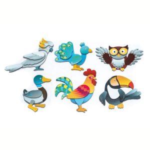 Magnet Puzzle Vögel