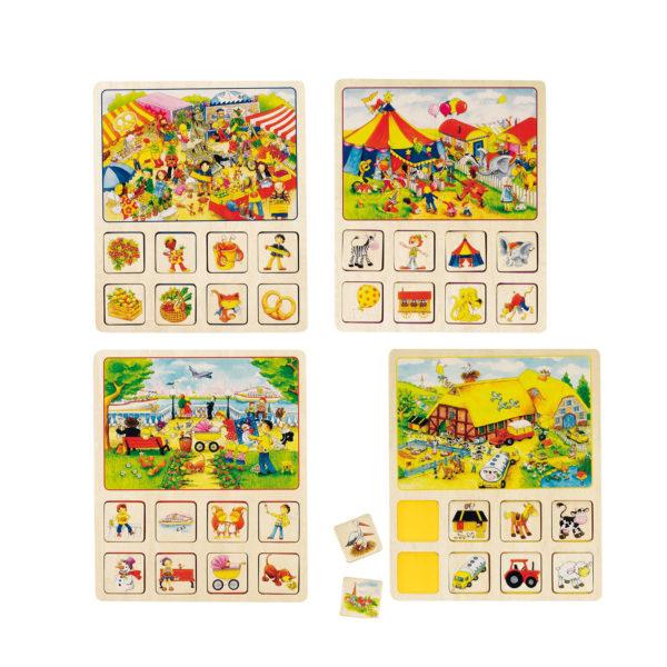 Ereignislotto Gesellschaftsspiel für Kinder in Kindergarten- und Schulalter