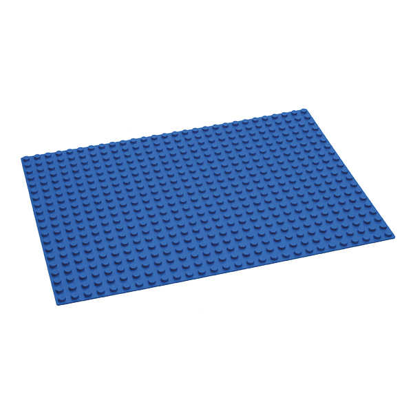Duplo® kompatible Bauplatte in blau