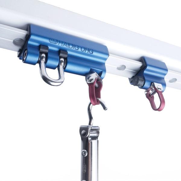 T- Schlitten mit Schäkel Aufhängungssystem für Bewegungsräume