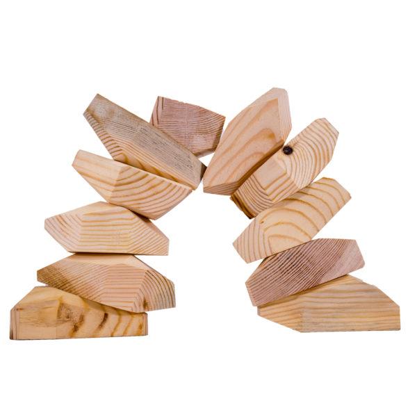 Diamant Holzbausteine aus Holz