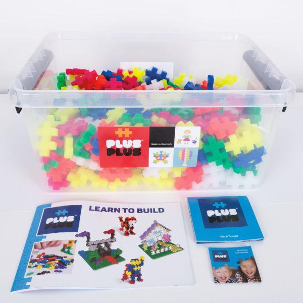 Plus Plus Bausteine Midi Neon für Kinder in Kindergarten- und Schulalter