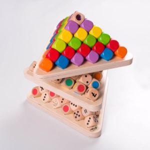 Würfelplatten dreieickig Bespielen mit Würfel oder Kugeln