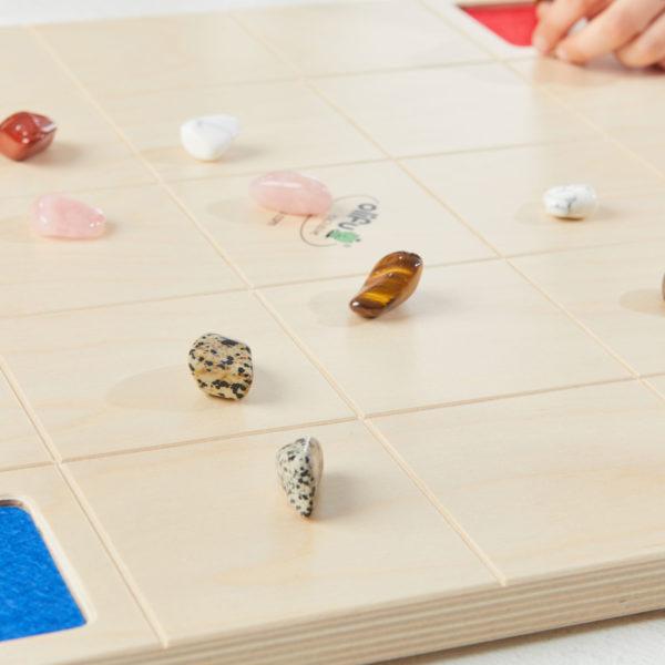 Steinzeln Spiel von olifu Strategiespiel aus Holz