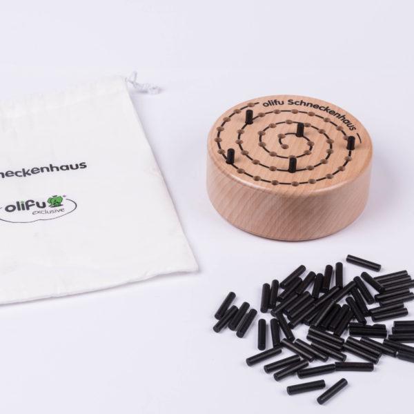 olifu Schneckenhaus Spiel aus Holz
