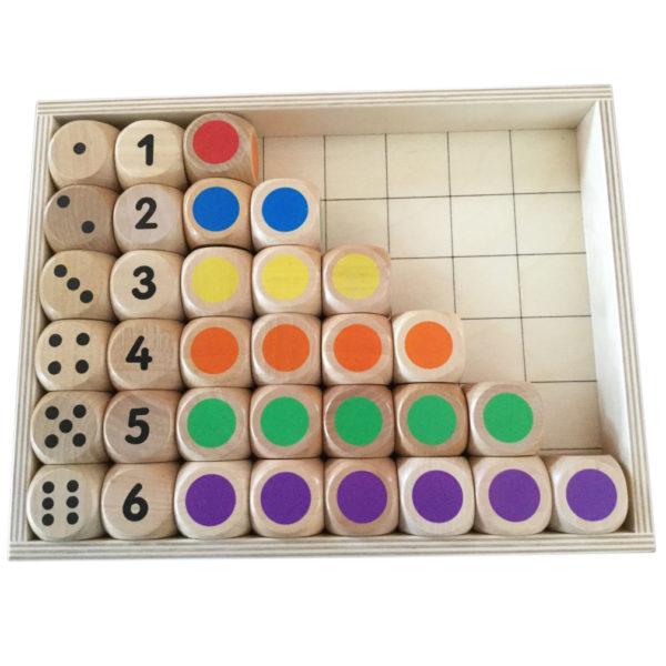 Würfelbox von olifu mit Würfel Zahlen lernen