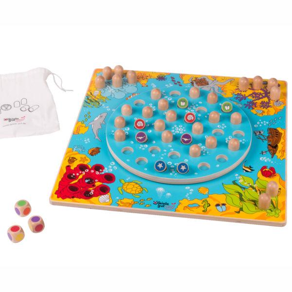 Korallenriff Geschellschaftsspiel aus Holz für Kinder in Kindergarten- und Schulalter
