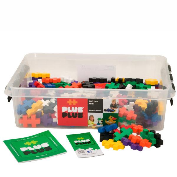 Plus Plus Bausteine Midi für Kinder in Kindergarten- und Schulalter