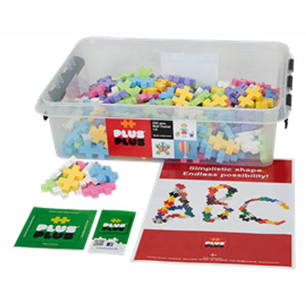 Plus Plus Bausteine Midi Pastell für Kinder in Kindergarten- und Schulalter