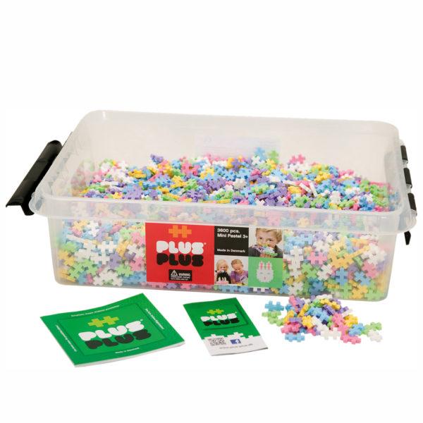 Plus Plus Mini Bausteine Pastell Konstruktionsmaterial für Kinder in Kindergarten-und Schulalter