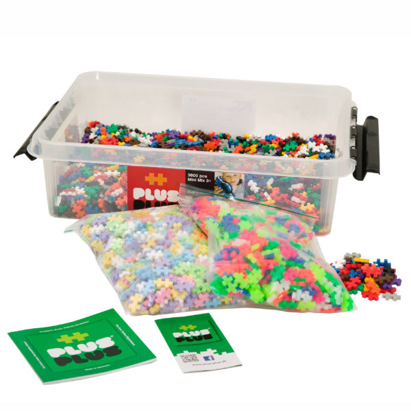 Plus Plus Mini Bausteine Mix Konstruktionsmaterial für Kinder in Kindergarten-und Schulalter