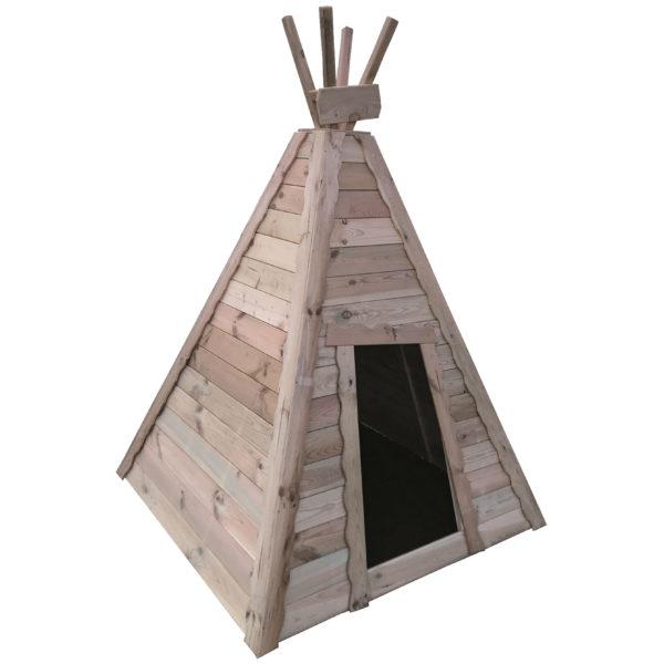 Indianerzelt aus Holz