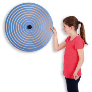 Wandkreisel Spirale Vorderseite für Gruppenräume in Krippe und Kindergarten