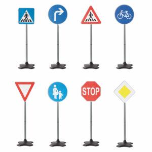 Verkehrsschilder für Verkehrsregeln üben mit Kindern