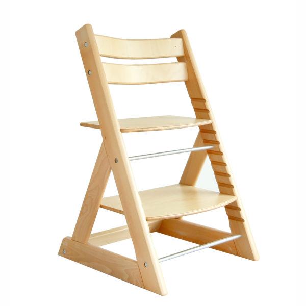 Verwandlungshochstuhl aus Holz mitwachsend für Krippe und Kindergarten