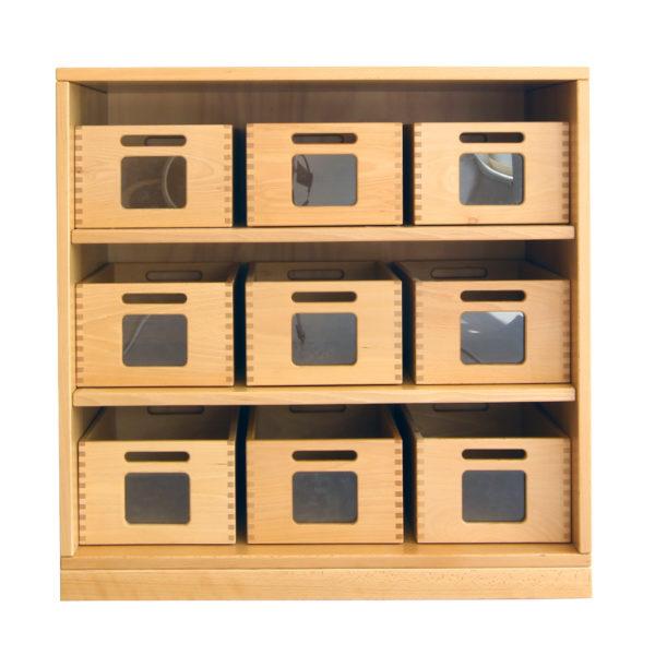 Materialladenschrank für Gruppenräume in Krippe und Kindergarten